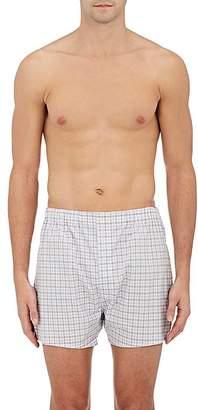 Barneys New York Men's Plaid Cotton Poplin Boxers $75 thestylecure.com
