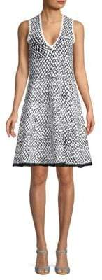 Derek Lam Printed A-Line Dress