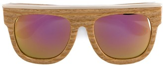 Dax Gabler 'N°02' wood-effect sunglasses