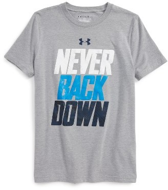 Boy's Under Armour Never Back Down T-Shirt $19.99 thestylecure.com