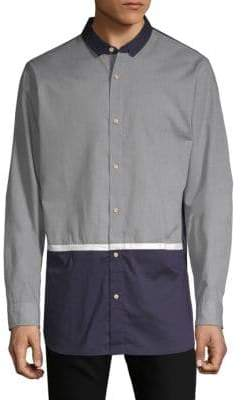 Scotch & Soda Colorblock Long-Sleeve Button-Down Shirt