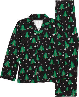 Us Angels Christmas Tree Two-Piece Pajamas