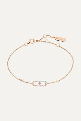 Möve Messika Uno 18-karat Rose Gold Diamond Bracelet