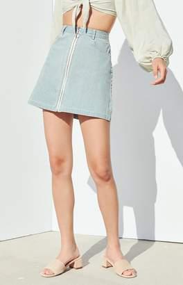 Charlie Holiday Palazzo Denim Skirt