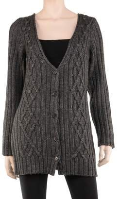 Max Studio Long Cable Cardigan Sweater