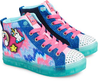 Skechers Twinkle Toes Shuffle Brights Light-Up High Top Sneaker