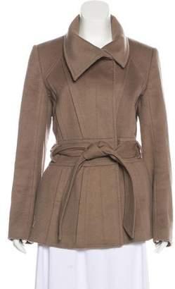Reiss Wool Tie-Front Coat