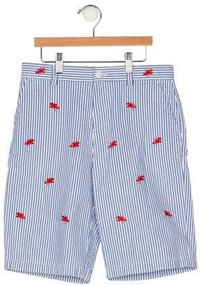 Brooks Brothers Boys' Stripe Embroidered Shorts
