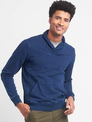 Gap Indigo French terry shawl-collar pullover