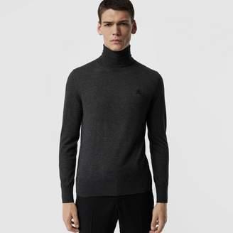 Burberry Cashmere Silk Roll-neck Sweater , Size: XL, Grey