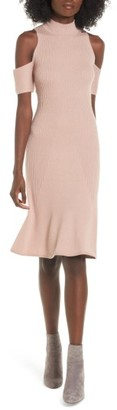 Women's Leith Cold Shoulder Sweater-Dress $79 thestylecure.com