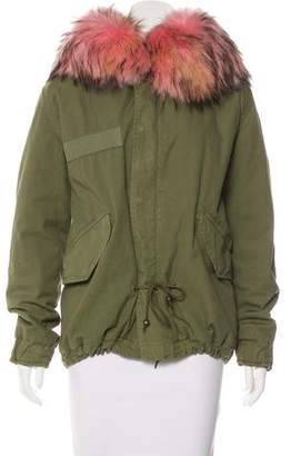 Mr & Mrs Italy Hooded Fur-Trimmed Parka
