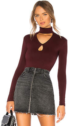 Bailey 44 Cat Track Cut Out Turtleneck Top