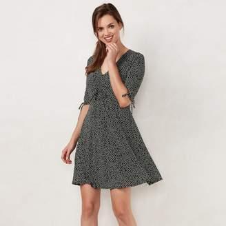 Lauren Conrad Petite Print Fit & Flare Dress