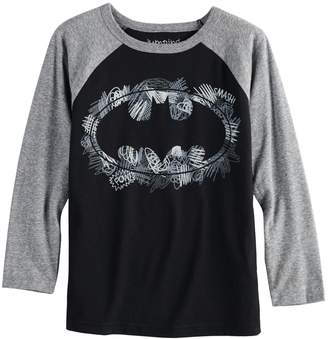 Justice Boys 4-12 Jumping Beans DC Comics Batman Scribbles Raglan Graphic Tee