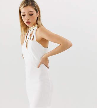 Asos Design Petite Bodycon Mini Dress With Studded Trim