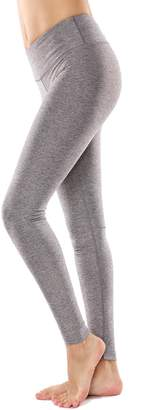 CRZ YOGA Women's Running Tights Workout Leggings Slimming Yoga Pants with Pockets XL