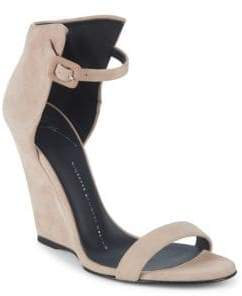 Giuseppe Zanotti High-Back Suede Wedge Sandals
