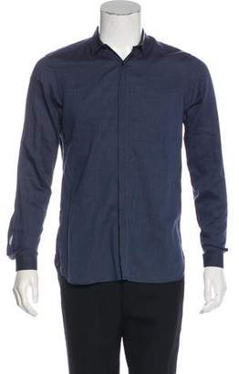 The Kooples Leather-Accented Shirt