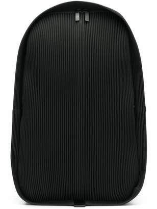 Issey Miyake Homme Plissé pleated zipped backpack