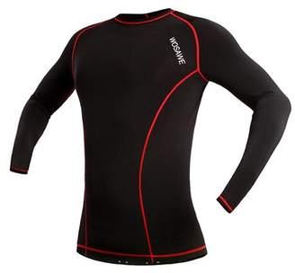 Wosawe Unisex Long Sleeve Bicycle Bike Jersey Breathable Sports Shirt Cycling Clothing Sportswear