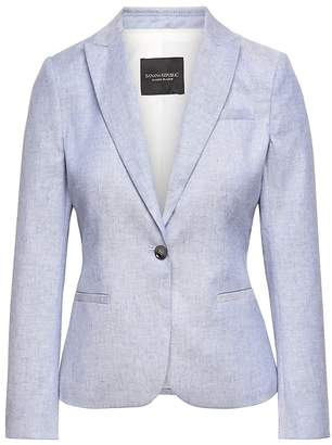 Banana Republic Classic-Fit Stretch Linen-Cotton Blazer
