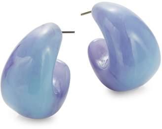 Kate Spade Adore-ables Silvertone Hoop Earrings