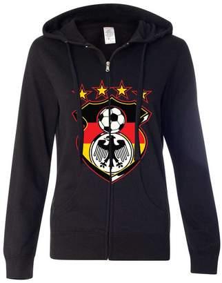 Co Dolphin Shirt Germany Soccer Coat of Arms Futbol Team Ladies Zip-Up Hoodie