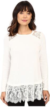 Karen Kane Lace Yoke Inset Sweater $128 thestylecure.com