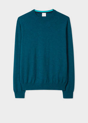 Paul Smith Men's Teal Cashmere Crew Neck Sweater