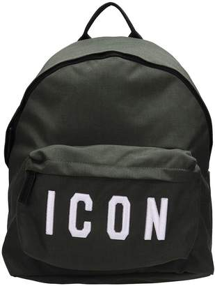 DSQUARED2 Icon Green Fabric Backpack
