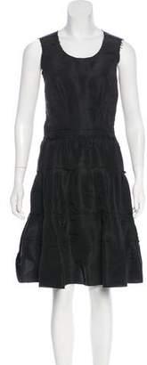 Lanvin Silk Knee-Length Dress w/ Tags
