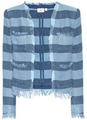 AG Jeans The Capucine striped cotton jacket