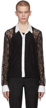 TAKAHIROMIYASHITA TheSoloist. Black Fringe Sleeve Shirt