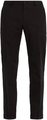 Dolce & Gabbana Logo-embroidered stretch-cotton trousers