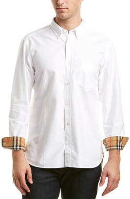 Burberry Check Cuff Woven Shirt