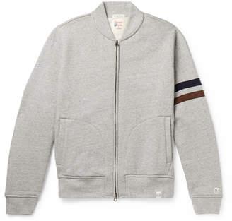 Todd Snyder Kingsman - + + Champion Harry's Fleece-Back Cotton-Blend Jersey Zip-Up Sweatshirt