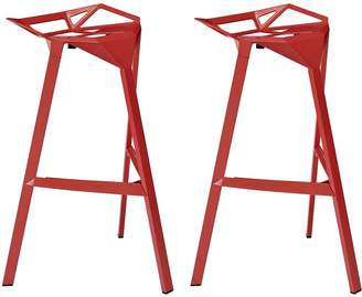 Modway LexMod Launch Stacking Set of 2 Bar Stools