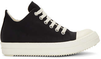 Rick Owens Black and White Low Sneakers