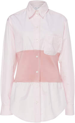 Victoria Beckham Rib Panel Belted Shirt
