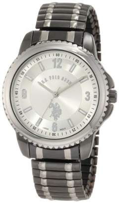 U.S. Polo Assn. Classic Men's USC80189 Horseman Round Case Gun-metal/Silver-tone Expansion Watch