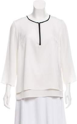 Milly Silk Long Sleeve Top