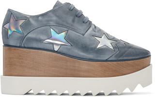 Stella McCartney Blue Platform Star Elyse Derbys $1,140 thestylecure.com