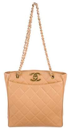 Chanel Quilted Caviar Shopper