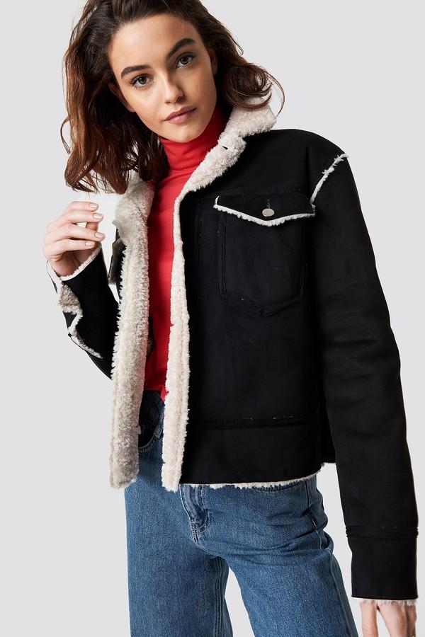 Emilie Briting X Shearling Jacket Black