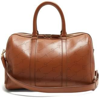 Stella McCartney Logo Pattern Faux Leather Holdall - Womens - Tan