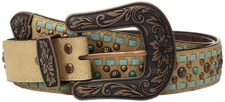 M&F Western Copper Studs with Turquoise Lace Belt Women's Belts