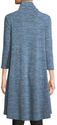 Neiman Marcus Cowl-Neck Wrapped Tunic