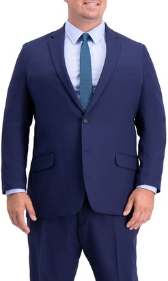 Haggar Big & Tall Active Series Classic-Fit Herringbone Suit Jacket