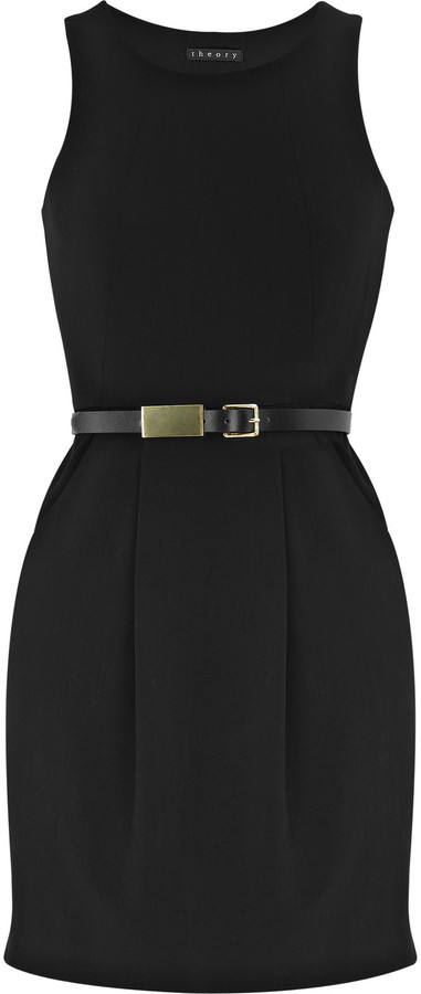 Theory Wool-blend belted dress